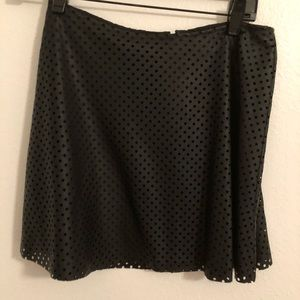 BCBG Leather Perforated Skirt